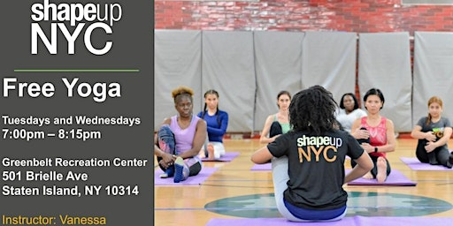 Greenbelt Recreation Center: Free Yoga with ShapeUp