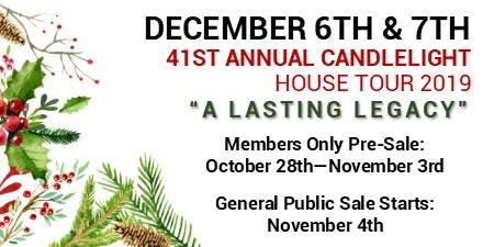 41st Annual Candlelight House Tour: Friday, December 6th & Saturday, December 7th