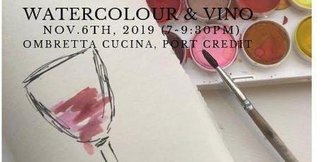 Watercolour & Vino at Ombretta Cucina, Port Credit tickets