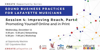 Sound Business Practices for Lafayette Musicians: Session 4