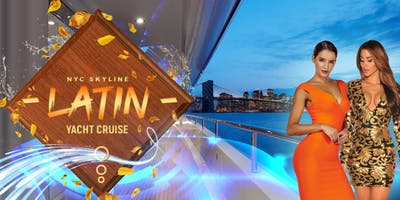 Latin Boat Party Yacht Cruise in New York City Skyline: 11/27 Thanksgiving Eve on MEGA YACHT INFINITY