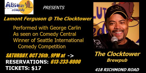 Absolute Comedy Presents Lamont Ferguson at the Westboro Clocktower