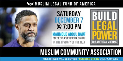 Build Legal Power for American Muslims with Mahmoud Abdul Rauf - Santa Clara, CA