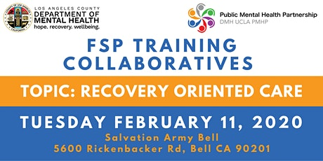FSP Training Collaboratives: Recovery-Oriented Care tickets