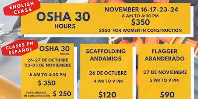 CLASE DE OSHA 30  | SCAFFOLDING (ANDAMIOS)|  FLAGGER (ABANDERADO)