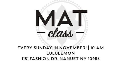 Club Pilates New City Mat Class at Lululemon