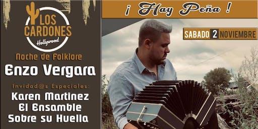 Noche de Folklore con Enzo Vergara: Hay Peña!!