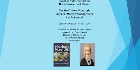 Discussion and Book Signing - The Healthcare Nonprofit   Sylvia Bastani tickets