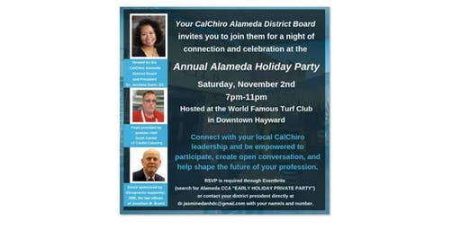 "Alameda CCA ""EARLY HOLIDAY PRIVATE PARTY"""