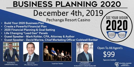 Coldwell Banker Business Planning 2020