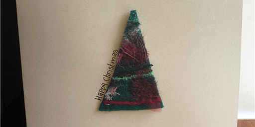 Make a set of textile Christmas Cards with Yoyo Textiles