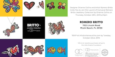 Launch of Exclusive Romero Britto Jewelry Collection by Orianne Collins