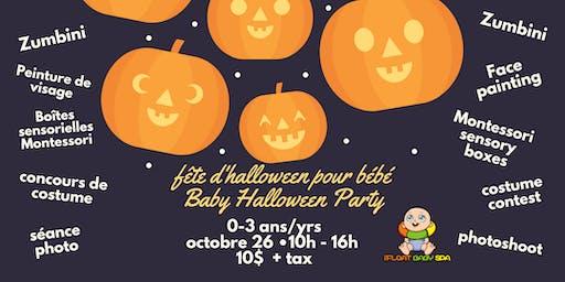 Fete d'Halloween pour bébé Baby Halloween Party