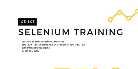 Selenium using Java Training /Bootcamp - Montreal billets