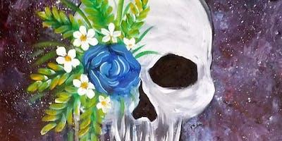 Galaxy Skull Paint N Drink at Sonny's