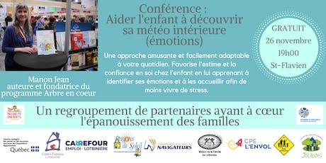 Conférence : Aider l'enfant à découvrir sa météo intérieure (émotions) billets