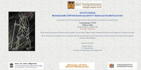 Mahatma Gandhi's 150th Birth Anniversary tickets
