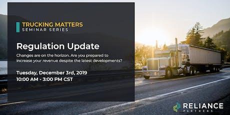 Trucking Matters: Regulation Update tickets