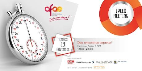 SOIRÉE SPEED MEETING, Hôtel Estrimont Suites & Spa (Réseautage AFAE ) billets