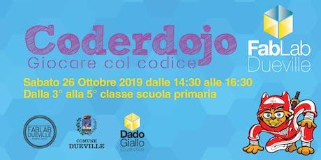 Coderdojo Dueville 26 Ottobre 2019 biglietti