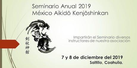 Seminario Anual México Aikido Kenjoshinkan, 2019 boletos