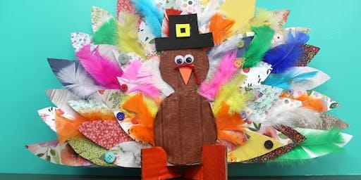 Kid's Creative Club Homeschool Edition - Turkey Feather Collage