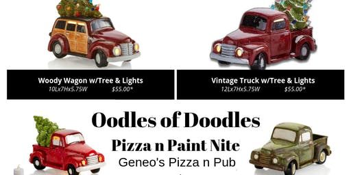 Pizza n Paint - NEW!! Bisque Painting - Vintage Truck!