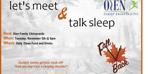 Let's Meet & Talk Sleep