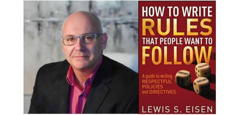 Writing Effective IM Policies with Lewis Eisen tickets