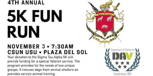 Sigma Tau Alpha Veterans Fraternity 5K Fun Run