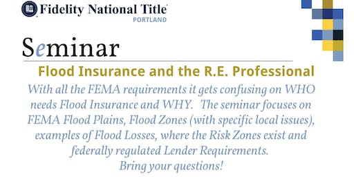 1 HR. CE- Flood Insurance and the R.E. Professional, Presented By: Larry Thompson Agent for American Family Insurance