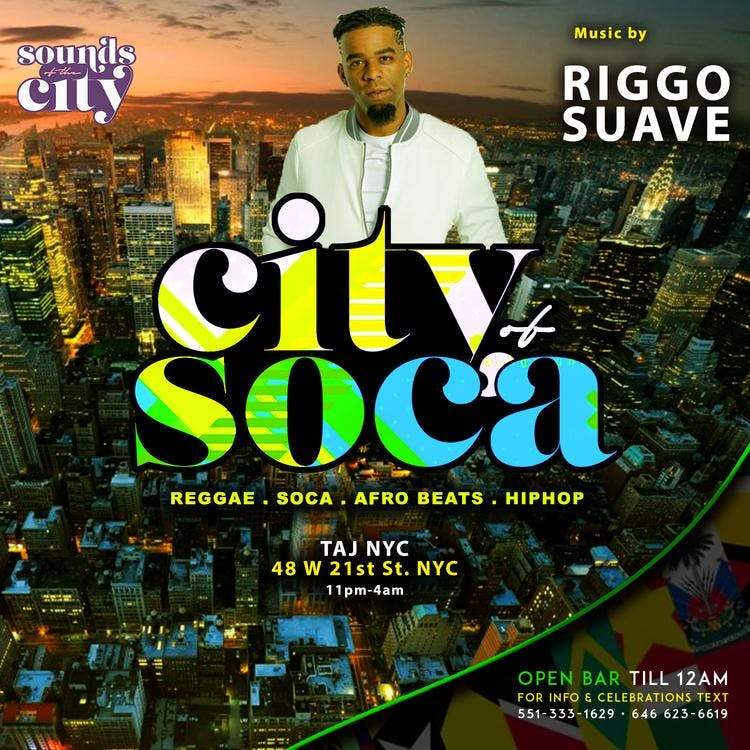 CITY of SOCA | RIGGO SUAVE x ELEGANCE SOUNDS x LOVE LIFE x FRAGG | Free b4 12 w/RSVP