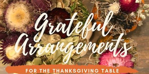 Thanksgiving Floral Arrangement Workshop