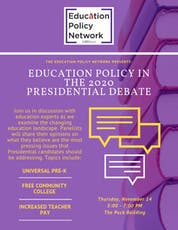 Education Policy in the 2020 Presidential Debate tickets