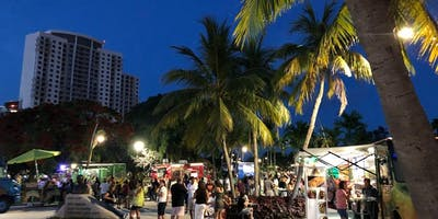 Food Trucks at Arts Park in Hollywood, Florida