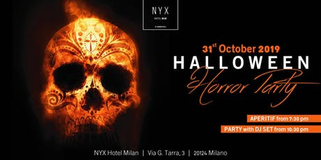 HALLOWEEN MILANO - THE HORROR PARTY - NYX | BJOY biglietti