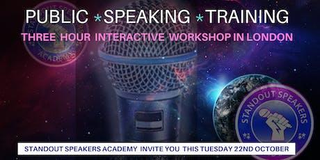 Public Speaking Training - StandOut Speakers Academy tickets