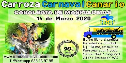 Entradas Carroza Carnaval de Maspalomas 2020