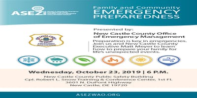 Emergency Preparedness Workshop Hosted by ASEZ WAO and New Castle OEM