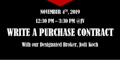 Write a Purchase Contract w/ Jodi Koch tickets