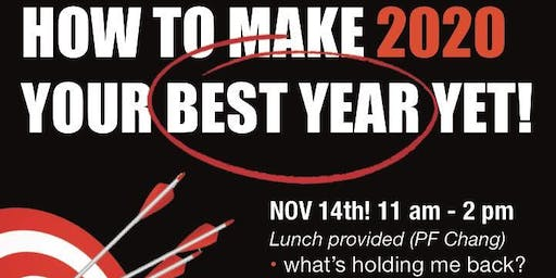 """Coaching Event:""""How to make 2020 your best year yet"""""""