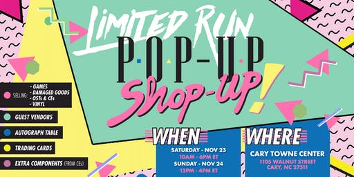 Limited Run Pop-Up Shop-Up
