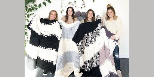 Lifestyle Next Door: Chunky Blanket Workshop (21+ years old) - Wed. 12/11 @ 5:30pm