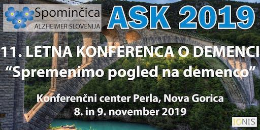 ASK 2019 - 11. LETNA KONFERENCA O DEMENCI