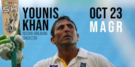 Younis Khan, Record-Breaking Cricketer: A Benefit Dinner for Charity (MAGR)