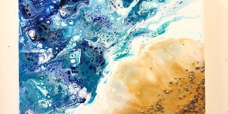 Liquid Glass Beach; A Pouring Medium Workshop at the Tett tickets