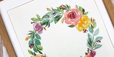 Fall Watercolor Wreath Workshop (Speckled Hen) tickets