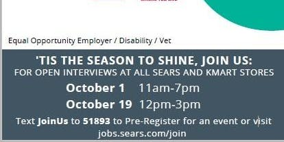 Sears EL PASO National Hiring Day!