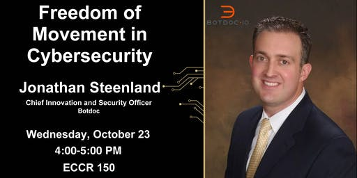TCP Seminar: Jonathan Steenland on Freedom of Movement in Cybersecurity