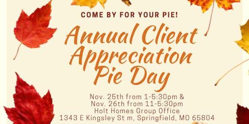 Annual Client Appreciation PIE DAY